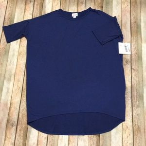 NWT Size Small Blue LuLaRoe Irma Tunic Top